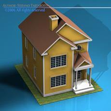 House in american modern style 3D Model