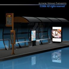 Bus stop1 3D Model