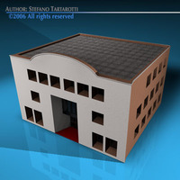 Art gallery building 3D Model