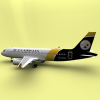 Airbus 319 US Airways 3D Model