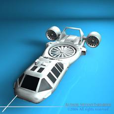 Sci-fi vstol vehicle 3D Model