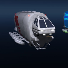 Sci-fi truck 3D Model