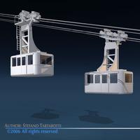 Cableway wagons 3D Model