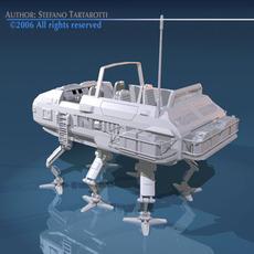 Sc-fi desert rover with legs 3D Model