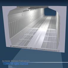 Science-fiction corridor 3D Model