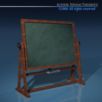 Old school blackboard 3D Model