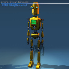 Comic robot 3D Model