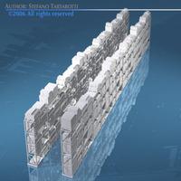 Depot shelves 3D Model
