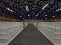 Warehouse detailed interior 3D Model