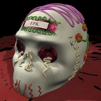 Calaverita skull candy 3D Model