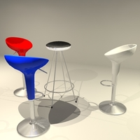 Bombo and Ovni stools 3D Model