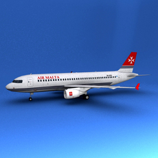 Airbus 320 Air Malta 3D Model