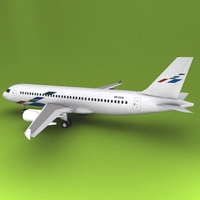 Airbus 319 volkswagon 3D Model