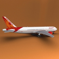 Boeing 777 Air India 3D Model