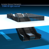 Escalators 3D Model