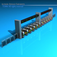 Subway gates 3D Model