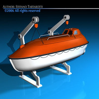 Life boat side support 3D Model