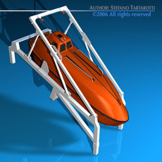 Life boat free fall ramp 3D Model