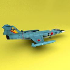 F-104 Starfighters 3D Model