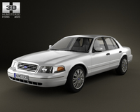 Ford Crown Victoria 2005 3D Model