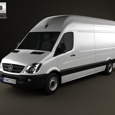 Mercedes-Benz Sprinter PanelVan ExtralongWheelbase SuperHighRoof 2011 3D Model