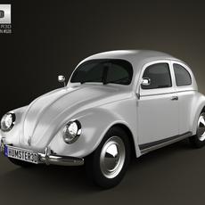 Volkswagen Beetle 1949 3D Model