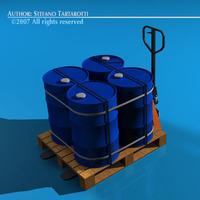 Pallet truck 3D Model