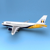 Airbus 320 Monarch 3D Model
