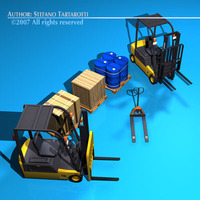 Forklift collection 3D Model