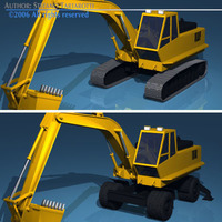 Excavators 3D Model
