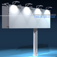 Billboard set 3D Model