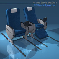 Plane/train seats business class 3D Model