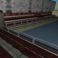 Ice arena 3D Model