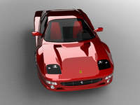 Ferrari F512M 3D Model