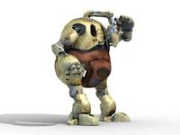 Fat Robot 3D Model