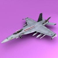 F-18E/F Super Hornet 3D Model