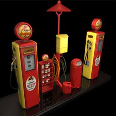 Old Gilmore Service Pump 3D Model