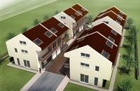 4 houses 3D Model