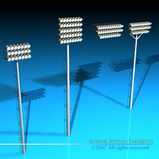Arena lights collection 3D Model