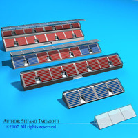 Stadium seating areas collection 3D Model