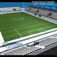 Soccer stadium med 3D Model