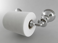 Toilet Paper Holder Style 2 3D Model