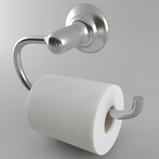 Toilet Paper Holder Style 1 3D Model