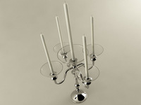 Five Branched Candle Holder 3D Model