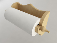 Wallmounted Paper Towel Holder 3D Model