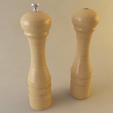 Salt Shaker and Pepper Mill 3D Model