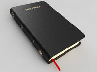 Holy Bible 3D Model