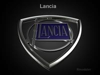 Lancia 3d Logo 3D Model