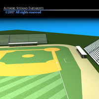 Baseball field 3D Model