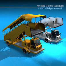 Airport stairs vehicle 3D Model